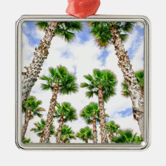Gruppe hohe gerade Palmen Silbernes Ornament