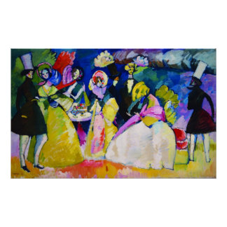 Gruppe in den Krinolinen durch Wassily Kandinsky Plakatdruck