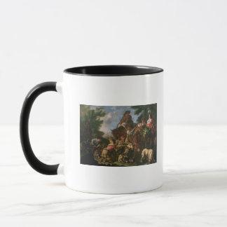 Gruppe Schäfer mit einem Pferd Tasse