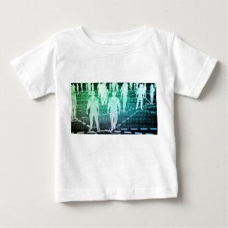 Gruppe von Personen angeschlossen durch Baby T-shirt