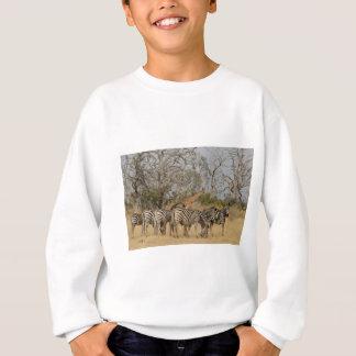 Gruppe von Zebras und von Giraffe TomWurl. Sweatshirt