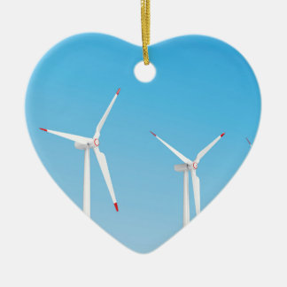 Gruppe Windkraftanlagen Keramik Ornament