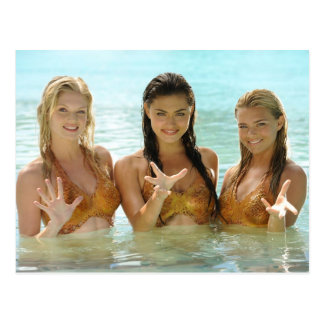 Gruppen-Pose im Wasser Postkarte