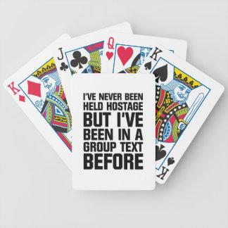 Gruppen-Text Bicycle Spielkarten
