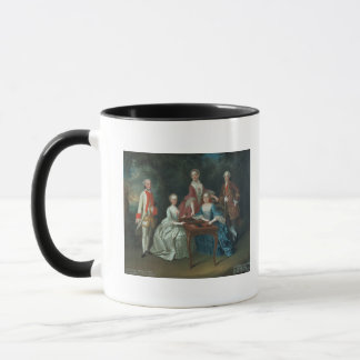 Gruppenporträt des Harrach Familienspielens Tasse