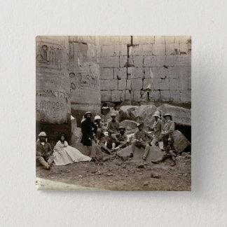 Gruppieren Sie Fotografie im Hall der Spalten, Quadratischer Button 5,1 Cm