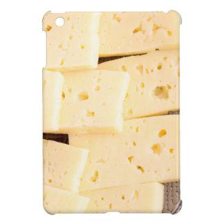 Gruppieren Sie trockenen harten gelben Käse der iPad Mini Hülle
