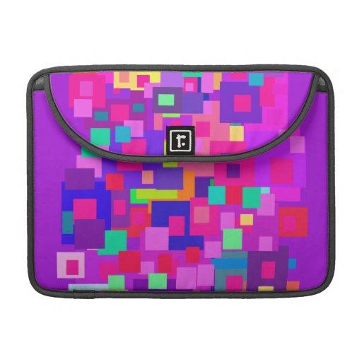 Gruppierte Quadrate lila Sleeve Für MacBooks
