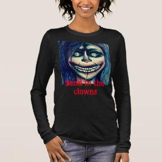 Gruselige Clownfrauenspitze Langarm T-Shirt