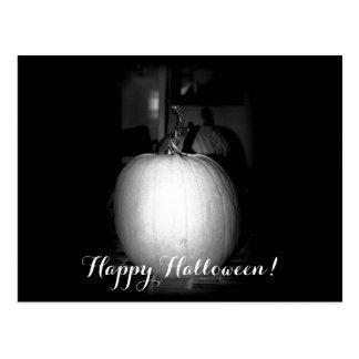 Gruselige Halloween-Kürbis-Postkarte Postkarte