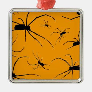 Gruselige Spinnen Silbernes Ornament