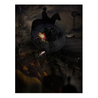 Gruselige UFO-Abbruchs-Postkarte Postkarte