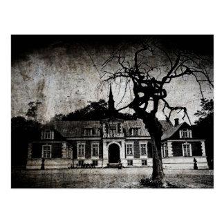 Gruselige Villa - Postkarte