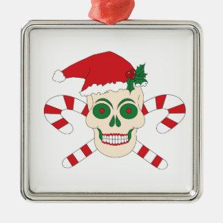 Gruselige Weihnachtsverzierung Silbernes Ornament