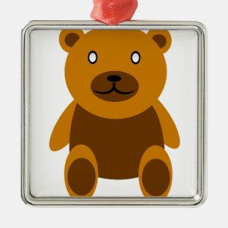 Gruseliger Bär Silbernes Ornament