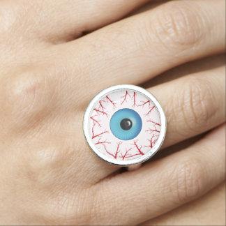 Gruseliger Bloodshot Augapfel-Halloween-Ring Ring