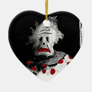 Gruseliger Clown Keramik Ornament