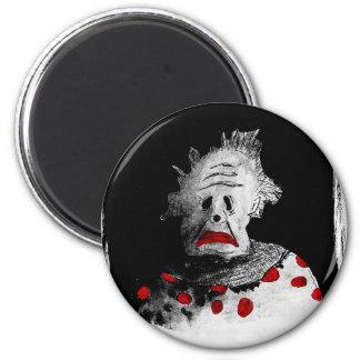 Gruseliger Clown Runder Magnet 5,7 Cm