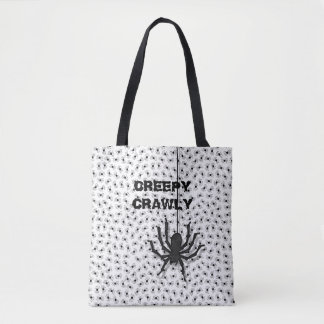 Gruseliges Crawly enormes Halloween-Spinnen-Muster Tasche