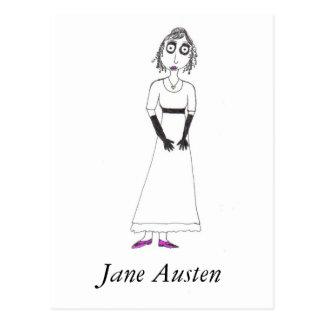 Gruseliges Jane Austen Postkarte