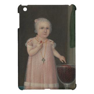 Gruseliges kleines Mädchen isst Süßigkeit iPad Mini Hülle