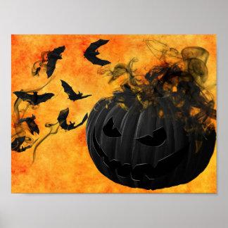 Gruseliges Kürbis-Halloween-Plakat Poster