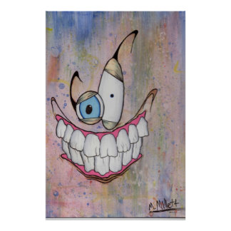 Gruseliges Lächeln Poster