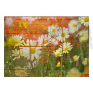 Gruß-Anmerkungs-Karte Blume des Gänseblümchens wei Grußkarte