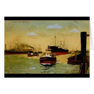 Gruss aus Hamburg, Hafen Vintag Grußkarte