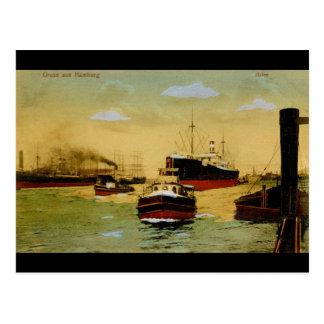 Gruss aus Hamburg, Hafen Vintag Postkarte