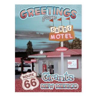 Gruß-Bewilligungs-New Mexiko-Postkarte des Weg-66 Postkarte