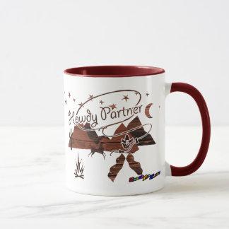 Grüß dich Partner - hölzerne rustikale Tasse