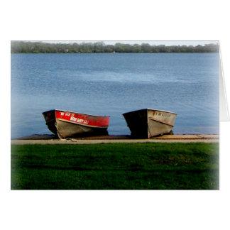 Gruß-Karte: Boote an See-Harriet-Allee Karte