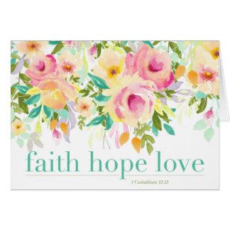 Gruß-Karte der Glauben-Hoffnungs-Liebe-| Karte