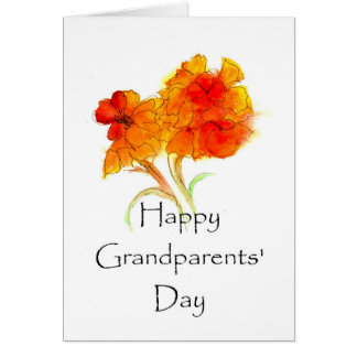 GRUSS-Karte der Großeltern Blumentages Karte