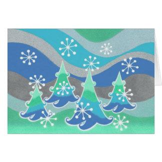 """Gruß"""" Karte der Winter-Baum-""""Jahreszeit"""