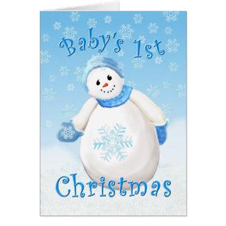Gruß-Karte des Babys erste Weihnachts Karte
