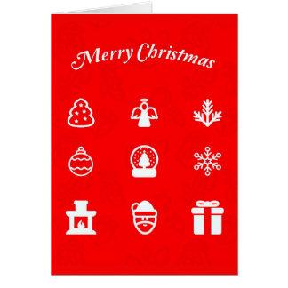 Gruß Karte-Feiertag Kunst-Weihnachten 117 Karte