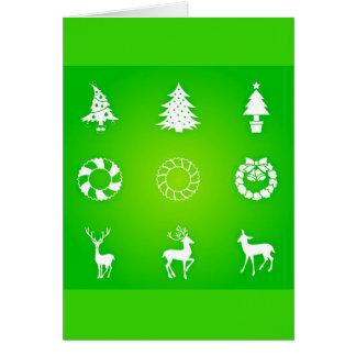 Gruß Karte-Feiertag Kunst-Weihnachten 118 Karte
