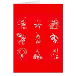 Gruß Karte-Feiertag Kunst-Weihnachten 119 Karte