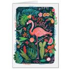 Gruß-Karte Flamingo-alles- Gute zum Geburtstag  Karte