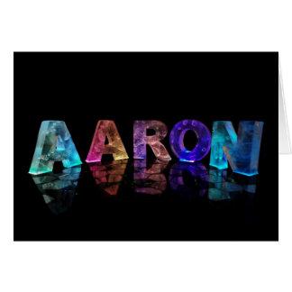 Gruß-Karte für Aaron Karte