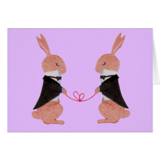 Gruß-Karte Herr-Rabbits Wedding Grußkarte