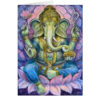 Gruß-Karte Lotuss Ganesha Karte