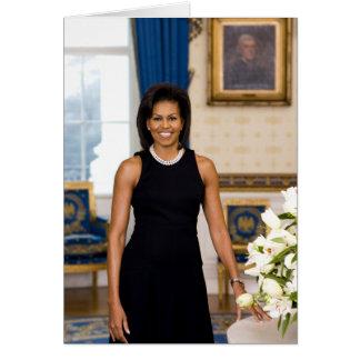 Gruß-Karte Michelle Obama Karte