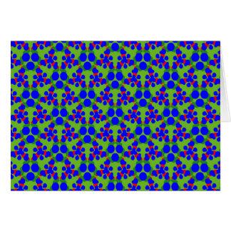 Gruß-Karte mit blauem Rot und Grün Geometrics Karte