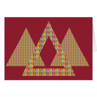 Gruß-Karte PYRAMIDE Dreieck-Energie-Grenze Karte