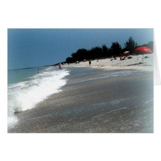"""Gruß-Karte: """"Strand-Szene"""" Sanibel Insel, FL Karte"""