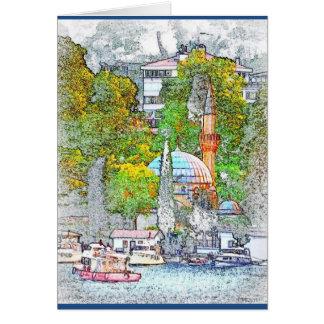 Gruß-Karte von Bebek Bucht, Istanbul Grußkarte