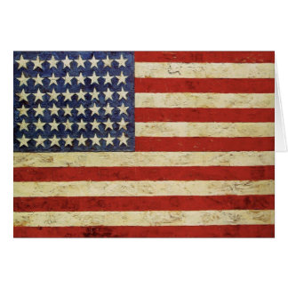 Gruß-Karte withVintage Flagge von USA